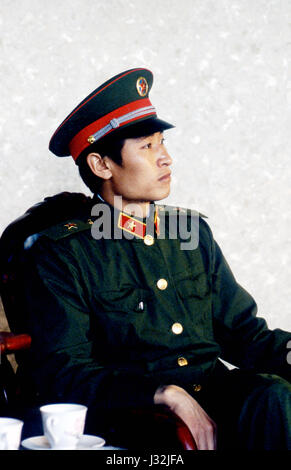 Soldier of the People's Liberation Army, China - Stock Photo