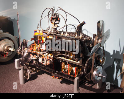 Car engine in the Louwman museum photo2 - Stock Photo