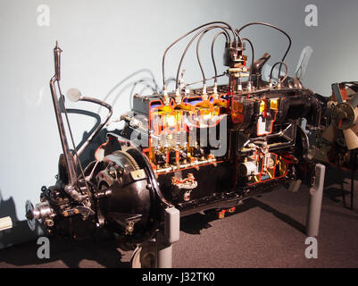 Car engine in the Louwman museum photo3 - Stock Photo