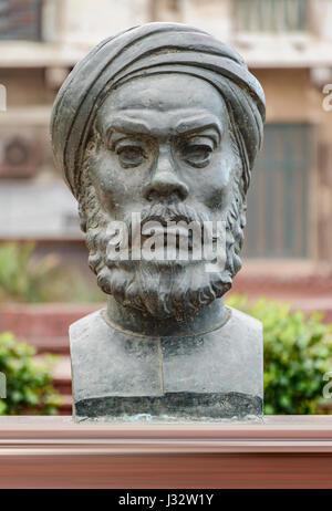 Historical Statue of Egyptian Revolution Speaker Abdullah Al Nadeem - Stock Photo