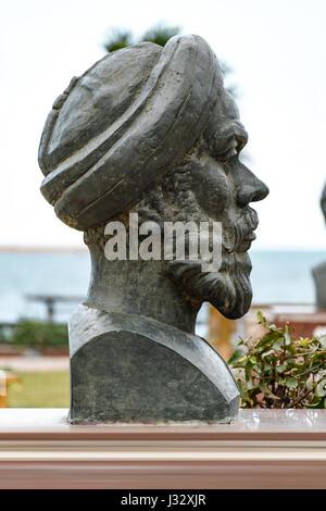 Historical Statue of Egyptian Revolution Speaker Abdullah Al Nadeem, Alexandria - Stock Photo