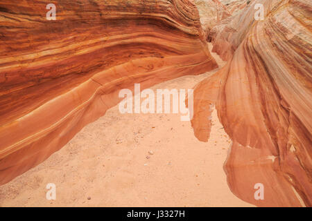 big horn canyon in the harris wash basin near escalante, utah - Stock Photo