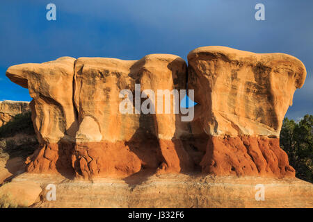 rock formations at devils garden along hole-in-the-rock road near escalante, utah - Stock Photo