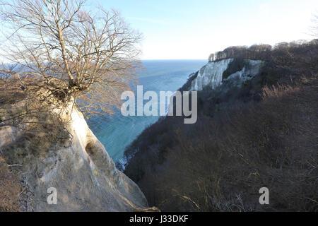 Germany, Rügen ,Cliff Königsstuhl at the Baltic Sea , Jasmund National Park, Mecklenburg-Vorpommern - Stock Photo