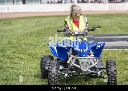 Peterborough show ground  30 April th 2016: History channel's Lisa Ice road trucker Lisa Kelly an American trucker - Stock Photo