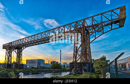 Warrington Transporter Bridge - Stock Photo