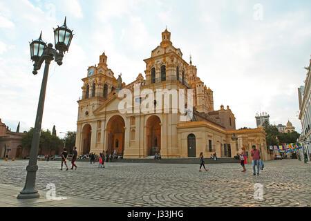 Iglesia Catedral, Cathedral at Plaza San Martin, Córdoba province, Argentina - Stock Photo