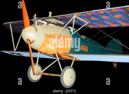 German Albatros fighter plane from World War One, isolated on black - Stock Photo