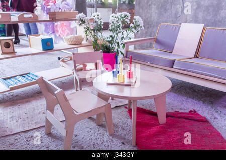 Children room. Game Room. Creative room. Restroom. Room for games. - Stock Photo