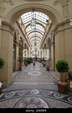 Galerie Vivienne in Paris, France. Great for indoor shopping. - Stock Photo