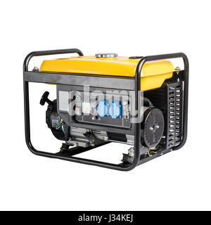 Electric AC generator isolated on white - Stock Photo