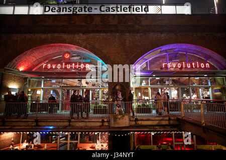 Manchester city centre Deansgate Locks Castlefield area - Stock Photo