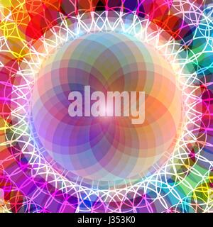 Abstract colorful pattern of emotional balance - Stock Photo