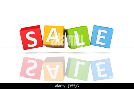Sale Template - 3D Rendering Image - Stock Photo