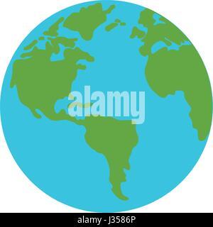 Earth world symbol - Stock Photo