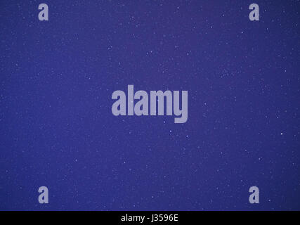 abstract starry background: view on stars at night - Stock Photo