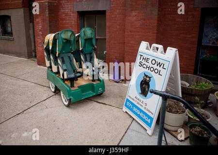 The Owl School, private preschool childcare - Washington, DC USA - Stock Photo