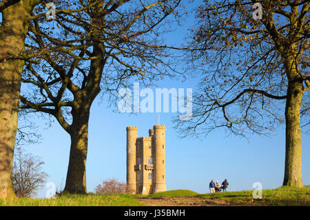 Broadway Tower, Cotswolds, Worcestershire, England, UK - Stock Photo