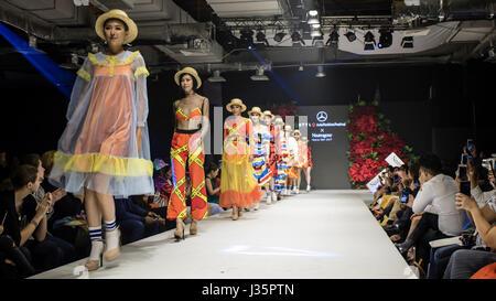 Kuala Lumpur, Malaysia. 2nd May, 2017. Day two of Mercedes STYLO Asia Fashion Festival 2017 in Kuala Lumpur. Designer - Stock Photo