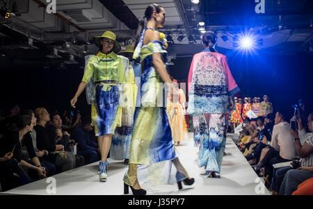 Kuala Lumpur, Malaysia. 2nd May, 2017. Day two of Mercedes STYLO Asia Fashion Festival 2017 in Kuala Lumpur. © Danny - Stock Photo