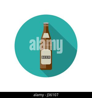 Beer icon in flat style - Stock Photo