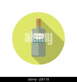 Tequila icon in flat style - Stock Photo