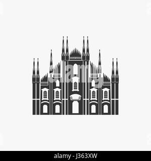 Milan Cathedral Vector Illustration - Stock Photo