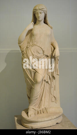 Leaning Aphrodite. 2nd century AD. Copy of a Greek original of the 5th century BC. National Archaeological Museum. - Stock Photo
