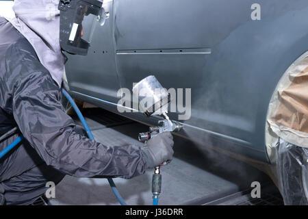 to revarnish car - Stock Photo