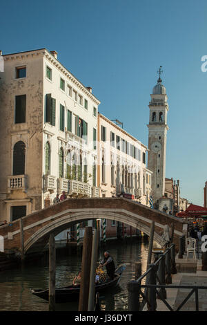 Spring afternoon in Castello district of Venice. - Stock Photo