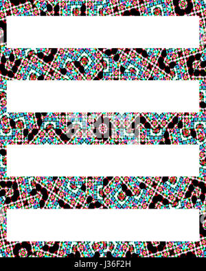 Digital technique abstract geometric stripes pattern background design in mixed colors - Stock Photo