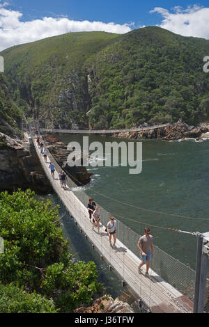 Suspension bridges Storms River Mouth Tsitsikamma National Park Garden Route South Africa