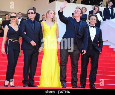 Celebration of the 20th birthday of 'Pulp fiction' : Kelly Preston, John Travolta, Uma Thurman, Quentin Tarantino, - Stock Photo