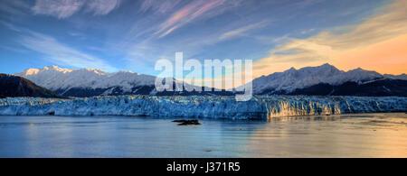Sunrise at the Hubbard Glacier - Stock Photo