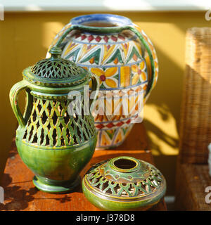 Three patterned vases. - Stock Photo