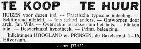 De Gooi  en Eemlander vol 59 no 081 advertisement 001 - Stock Photo