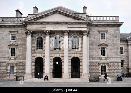 The Chapel at Trinity College in Dublin. Trinity College is Dublin's most noted university since its founding during - Stock Photo