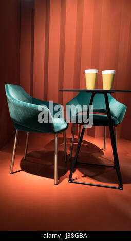 Charmant Milan April, 2017: Interior Design Furniture At The International Design  Week Salone Del Mobile
