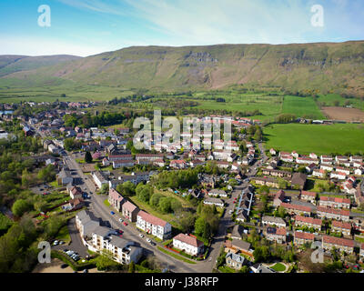 Aerial drone photo of Lennoxtown East Dunbartonshire - Stock Photo