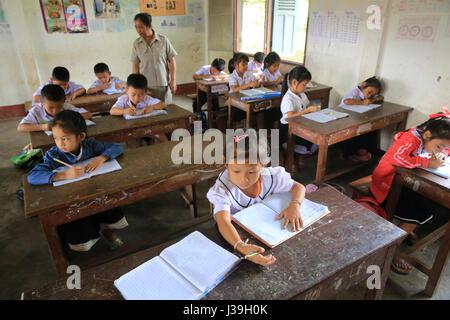Elementary school. schoolchildren in classroom. - Stock Photo