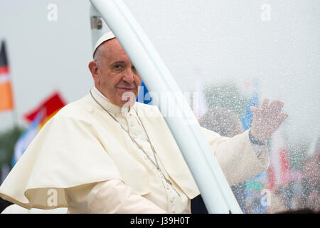 World youth day. krakow. 2016. pope francesco i. - Stock Photo