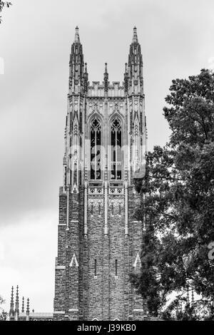 Historic architecture on Duke University's campus - Stock Photo