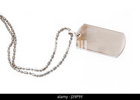 US army dog tag isolated - Stock Photo