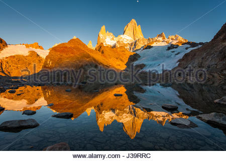 Autumn in Patagonia. Fitz Roy, Argentina - Stock Photo