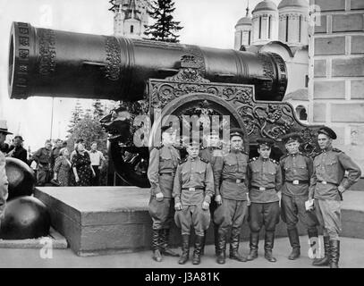 The Tsar Cannon in the Kremlin in Moscow - Stock Photo