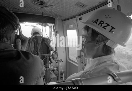 A rescue helicopter, 1970 - Stock Photo