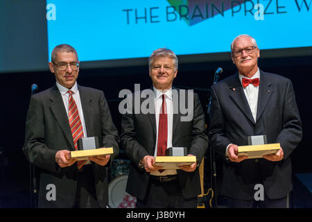 Copenhagen, Denmark. 4th May, 2017. The Lundbeck Foundation's major research prize – The Brain Prize – goes this - Stock Photo