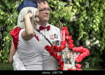 Belgrade, Serbia. 04th May 2017. Every year on the day of the death of Josip Broz Tito, President of Yugoslavia, - Stock Photo