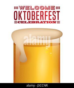 welcome oktoberfest poster icon - Stock Photo