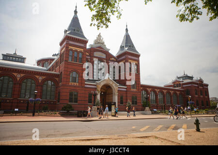 Smithsonian Institution Arts and Industries building - Washington, DC USA - Stock Photo
